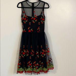 Embroidered Rose Dress NWOT 🌹